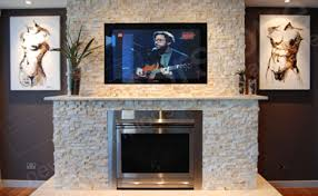 Stacked Stone Around Fireplace by Norstone Natural Stone Veneer Fireplace Tv Surround With Large