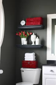red and gray bathroom ideas the yellow cape cod my powder room