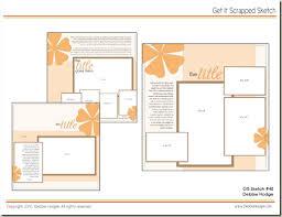 scrapbook page sketch and template bundle no 48