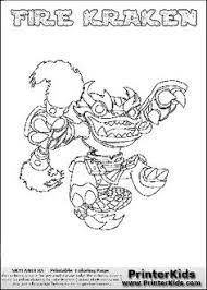 printable coloring page for kids with skylanders swap force freeze