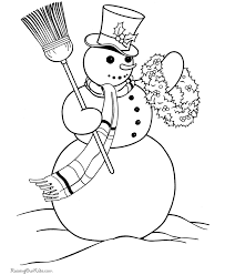 printable christmas pages for coloring christmas snowman coloring pages