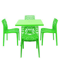 Plastic Furniture Shopping Online India Supreme Set Of 4web Chair 1 Olive Foldable Table Parrot Green