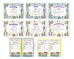preschool certificates preschool pre k pre kindergarten diplomas certificates