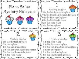 place value mystery number tgif third grade is new products and a freebie math