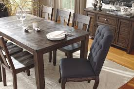 ashley furniture kitchen sets trudell dark brown rectangular extendable dining table from ashley