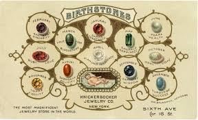 birthstones vintage birthstones image the graphics fairy