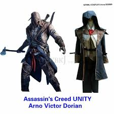 Quality Halloween Costume Assassin Creed Hood Jacket Arno Victor Dorian Cosplay Costume