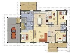 House With Carport Ukko A Log Homes