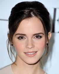 best female haircuts for a widow s peak elegant updo for wedding prom homecoming emma watson s updo