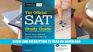 read the official sat study guide 2018 edition official study