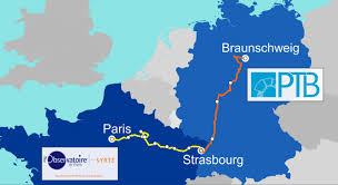 Map Of France And Germany by Km Of Optical Fiber Connect Optical Clocks In France And Germany