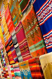 Colorful Aztec Rug English Fabric Bright Once Wed Beautiful Blankets And Color