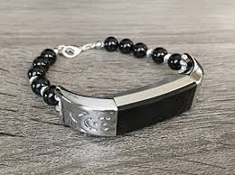 inspirational gifts luxury onyx bracelet for fitbit alta alta hr tracker handmade