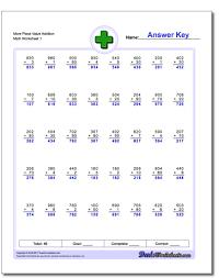 place value addition worksheets