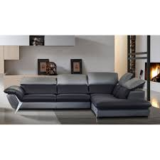 canapé d angle noir et gris grand canapé d angle méridienne 6 places cuir haut de gamme