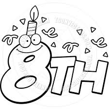 coloring pages happy birthday happy 8th birthday coloring pages