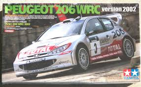 peugeot 206 rally tamiya 2002 peugeot 206 wrc 1 25 scale model kit no 24255 2400 ebay