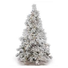 vickerman pre lit 6 5 flocked alberta artificial tree