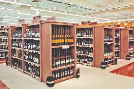 Liquor Display Shelves by Wine And Liquor Wood Display Store Fixtures Newood Display Fixtures