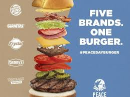 burger king and friends to give away 1 500 peace day burgers on