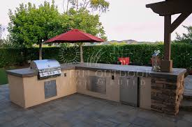 Outdoor Kitchen With Concrete Countertops 8 Steps With Picture by Stucco Finish Bbq Islands Outdoor Kitchens Gallery Western Outdoor