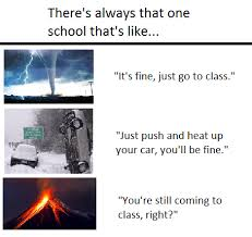 Meme School - school vs bad weather meme 1 by servant1999 on deviantart