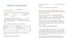 rental agreement samples