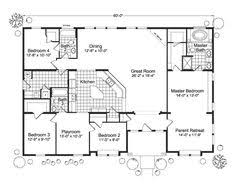 4 Bedroom Single Story Floor Plans 4 Bedroom Single Story House Plans Dream Home Pinterest