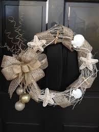 christmas wreath beach themed wreath nautical wreath natural