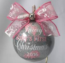 babys ornament personalized with year and baby s