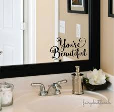 mirror quotes etsy beautiful wall mirror decal you are fancy vinyl letters inspirational quote for