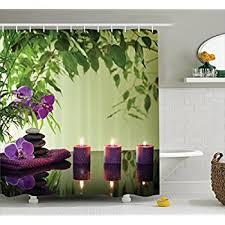 Rainforest Shower Curtain - amazon com fabric shower curtain spa decor by ambesonne mildew
