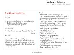 konfliktgespräche brieftasche weber advisory