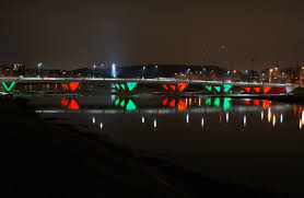 lighting stores in dayton ohio bridge lighting stewart street bridge in dayton ohio