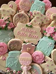 shabby chic baby shower cookies claudia u0027s creative cookies
