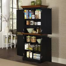 home styles monarch black and oak pantry 5008 65