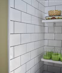 Grout Kitchen Backsplash by Terrific White Subway Tile Backsplash Grout Color Images Ideas