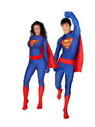 free shipping unisex lycra spandex superman supergirl super woman