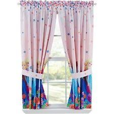 Floral Lined Curtains Disney U0027s Floral Lined Curtains Ebay