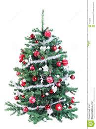 red tinsel christmas tree christmas lights decoration