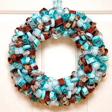 diy ribbon wreath sweet tea saving grace