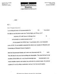 awesome collection of letter of recommendation residency match