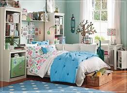 bedroom simple and neat blue teenage decoration using light