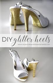 diy glitter heels u2022 vous pouvez embrasser la mariée