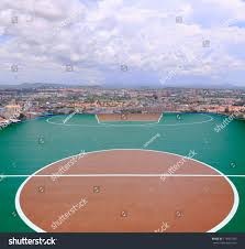 line on outdoor basketball court sport stock photo 115407373