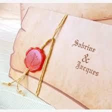faire part mariage parchemin médiéval