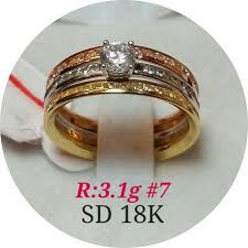 saudi gold wedding ring 18k tricolor ring 3 1g real saudi gold luxury on carousell