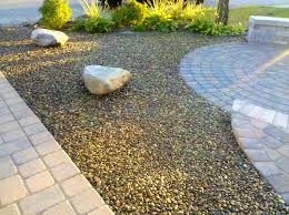 bedroom fascinating gravel and grass landscaping ideas gardening