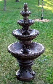 amazon com 7 u0027 concrete french quarter 4 tier outdoor garden