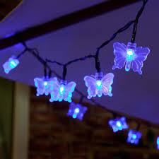 christmas light gutter hooks solar butterfly fairy lights 50 blue led 5m